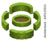 set of garden bushes.  isolated ...   Shutterstock .eps vector #635115311