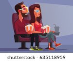 happy smiling couple character... | Shutterstock .eps vector #635118959