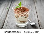 traditional italian dessert... | Shutterstock . vector #635122484
