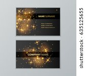 template of business cards with ... | Shutterstock .eps vector #635125655