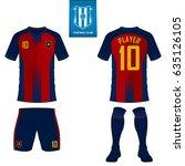 set of soccer kit or football... | Shutterstock .eps vector #635126105