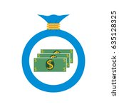 vector. the icon. bag with... | Shutterstock .eps vector #635128325