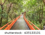 red tori in usa jingu shrine ... | Shutterstock . vector #635133131