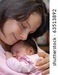 caucasian mother and baby... | Shutterstock . vector #63513892