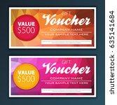 gift voucher template | Shutterstock .eps vector #635141684