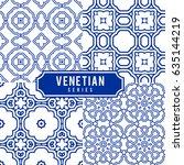 tiled backgrounds with venetian ... | Shutterstock .eps vector #635144219