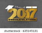 graduation wishes overlays ... | Shutterstock .eps vector #635145131