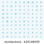 100 medical icons set over... | Shutterstock .eps vector #635148539