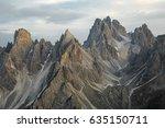 high mountain cliffs in the... | Shutterstock . vector #635150711