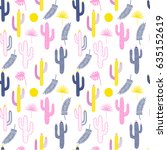 seamless vector pattern with... | Shutterstock .eps vector #635152619