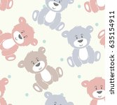 Vector Cute Seamless Pattern...
