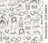 vector illustration  hand drawn ... | Shutterstock .eps vector #635168639