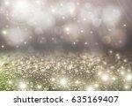 gold light and glitter effect... | Shutterstock . vector #635169407