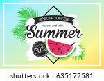summer sale background design... | Shutterstock .eps vector #635172581