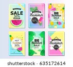 set of summer sale background... | Shutterstock .eps vector #635172614