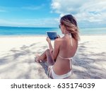 summer holidays  vacation ... | Shutterstock . vector #635174039