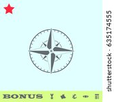 compass icon flat. simple gray...