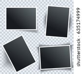 photo frame set with different... | Shutterstock .eps vector #635174999