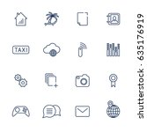 set with 16 icons for apps ... | Shutterstock .eps vector #635176919