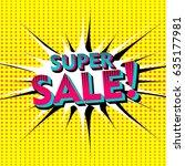 super sale vector illustration. ... | Shutterstock .eps vector #635177981