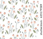 seamless vector surface floral... | Shutterstock .eps vector #635179589