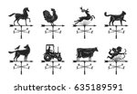 weather vane silhouette  set... | Shutterstock .eps vector #635189591