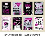 collection of black friday sale ... | Shutterstock .eps vector #635190995