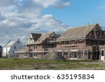 construction site of new dutch... | Shutterstock . vector #635195834