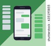chat mobile  messages  bubbles  ...   Shutterstock .eps vector #635195855