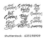 collection of summer lettering. ... | Shutterstock .eps vector #635198909
