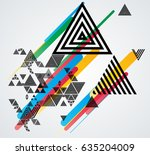 minimalistic creative concept . ... | Shutterstock .eps vector #635204009