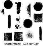 grunge design elements . brush... | Shutterstock .eps vector #635204039
