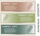 business cards design. vector... | Shutterstock .eps vector #635204759