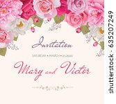 wedding invitation  thank you... | Shutterstock .eps vector #635207249