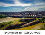 the itaipu dam is a... | Shutterstock . vector #635207909