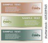 business cards design. vector... | Shutterstock .eps vector #635209565