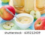 healthy organic applesauce ... | Shutterstock . vector #635212439