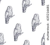 vector seamless pattern with... | Shutterstock .eps vector #635216681
