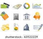 banking and finance icon set | Shutterstock .eps vector #63522229