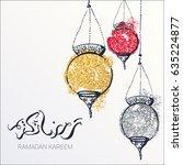 ramadan kareem background....   Shutterstock .eps vector #635224877