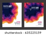 abstract paper cut background.... | Shutterstock .eps vector #635225159
