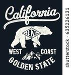 vintage california typography... | Shutterstock .eps vector #635226131
