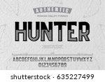font.alphabet.script.typeface... | Shutterstock .eps vector #635227499