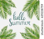 hello summer natural background ... | Shutterstock . vector #635228759