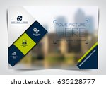 vector brochure  flyer ... | Shutterstock .eps vector #635228777