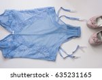 lacy lingerie with belt for... | Shutterstock . vector #635231165
