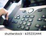 dialing telephone keypad... | Shutterstock . vector #635231444