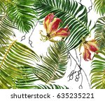 seamless pattern hand painted... | Shutterstock . vector #635235221
