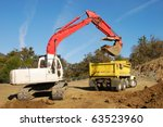 Large Track Hoe Exchavator...