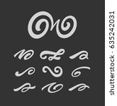 calligraghic design elements... | Shutterstock .eps vector #635242031